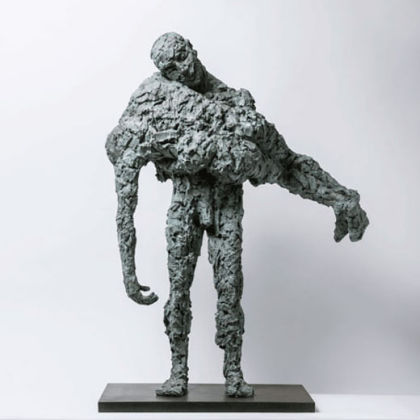 Anna Gillespie Rescue Me, Bronze Ed. of 6 h105 x 87 x 16 cm