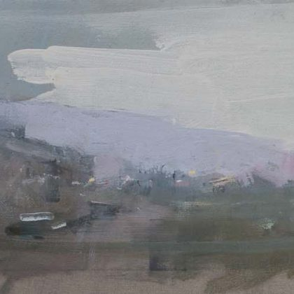 Nathan Ford Return Journey, Oil on canvas 10 x 47 cm