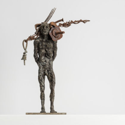 Anna Gillespie Collector, Bronze and found objects (unique) 39x12x14cm