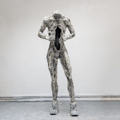 Anna Gillespie Running on Empty, Plaster, resin, mixed media 168x64x52cm