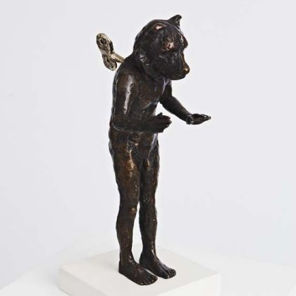 Beth Carter Clockwork Bear, Bronze Ed. of 15 h23 x 13 x 19 cm.