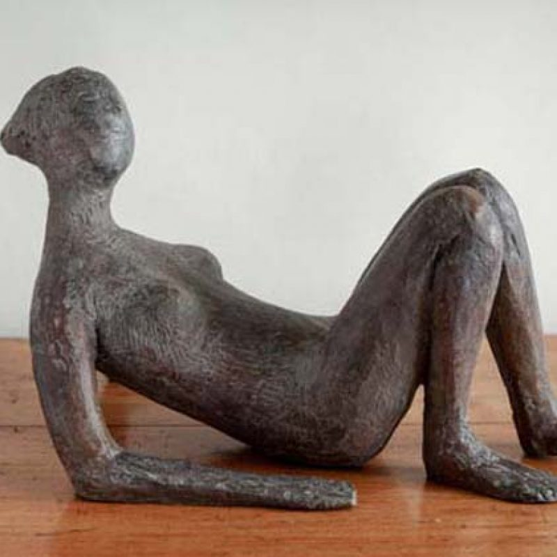 Christopher Marvell Lying Woman, Bronze Ed. of 5 29 x 32 x 55 cm.