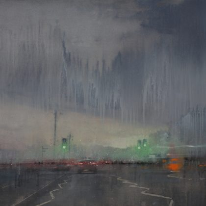 Nathan Ford Coast Road, Oil on Board 61 x 122 cm.