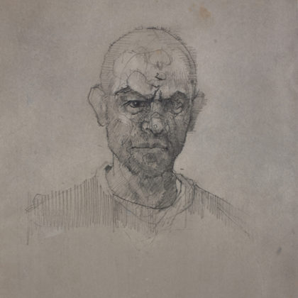Nathan Ford Self 12.18, Pencil and Wash on Paper 28 x 20 cm.
