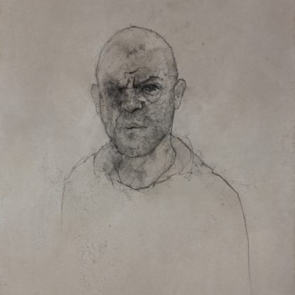 Nathan Ford Self 9.18, Pencil and Wash on Paper 28 x 20 cm.