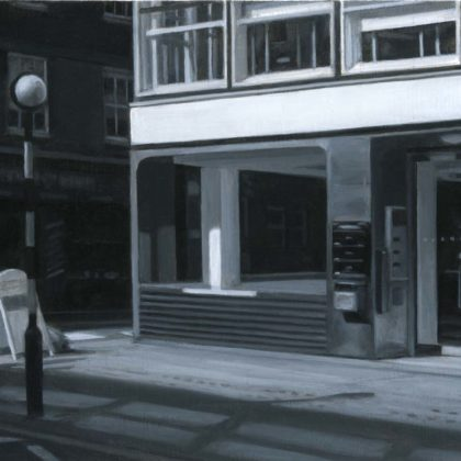 Nicholas Middleton Offices Let, Oil on paper on card 10 x 15 cm.