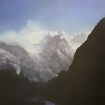 Jenny Pockley, Alpine Ombre 150 x 120cms, Oil on Canvas