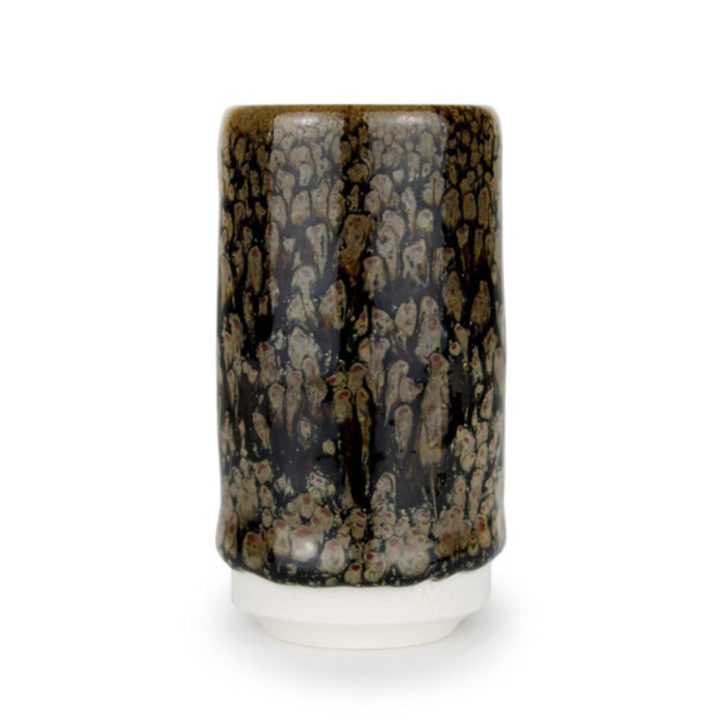 albert-montserrat Small Brown-black Cylinder, Glazed Porcelain ht. 9.5 x Ø 5 cm.