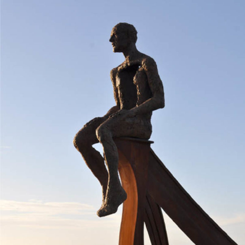 Anna Gillespie SHIP, Bronze and corten steel, commissioned by Morecambe Bay Partnership for Half Moon Bay, Morecambe