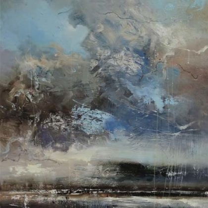 Claire Wiltsher Sea Watch, Mixed media on canvas 95 x 65 cm.