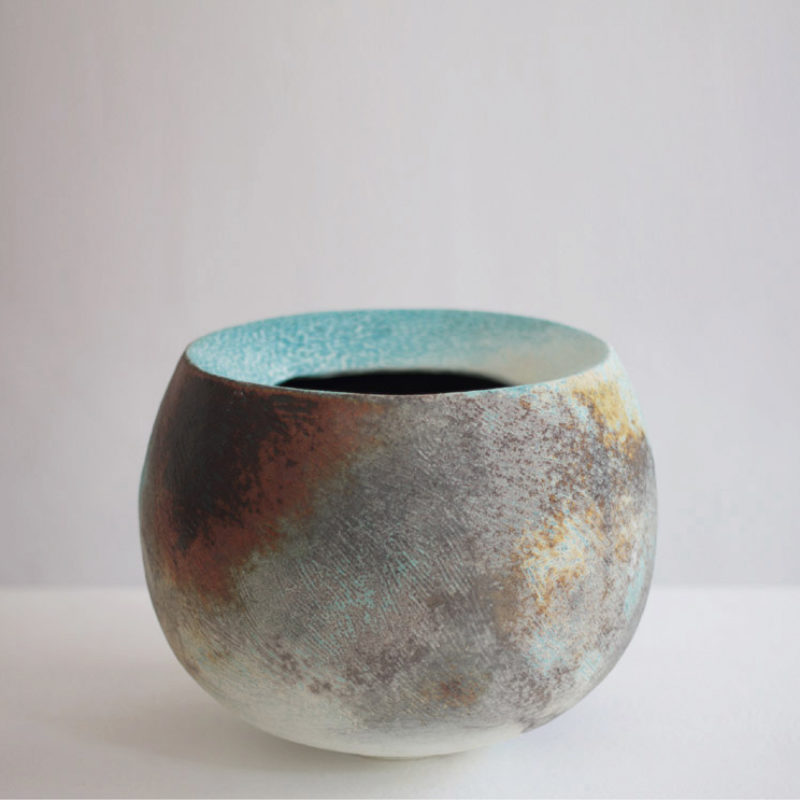 Jack Doherty 5. Round Rimmed Form Soda Fired Porcelain 26 x 26 cm.