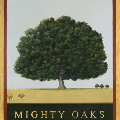 Rebecca Campbell Mighty Oaks Oil on linen 61 x 46 cm
