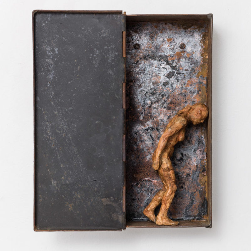 Anna Gillespie, Onwards, Unique, Bronze and found steel 32 x 16 x 8 cm