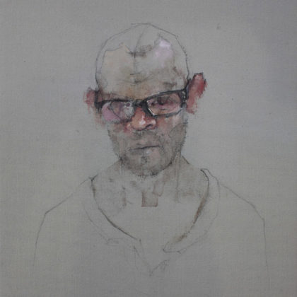 Nathan Ford, Self 12-19, Oil on canvas 28 x 20 cm