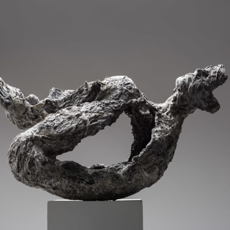 Anna Gillespie, Still There, Plaster, mixed media 54 x 94 x 43 cm