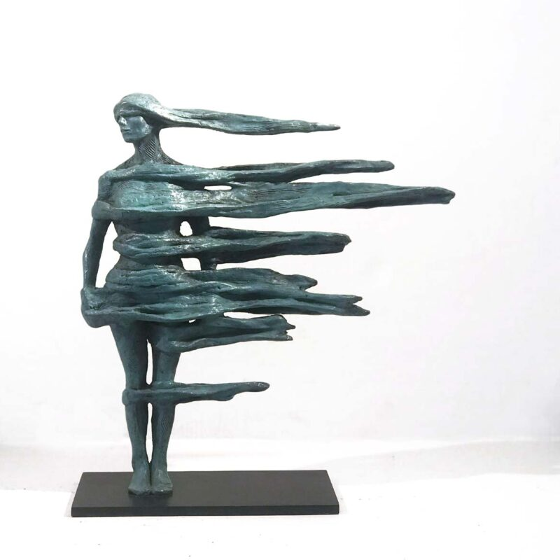 Anna Gillespie Atlantic Bronze Ed. 1 of 9 23 x 25 cm