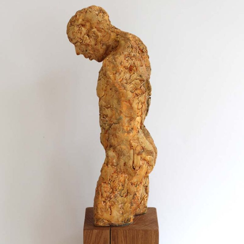 Torso, Plaster, Resin, Mixed Media Ed. 6 of 6 54 x 13.5 x 13.5cm