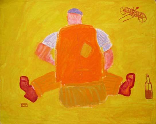 Ben Hartley Idyll, Gouache on paper 59 x 79 cm