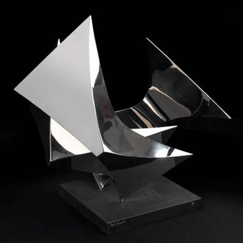 Paul Mount The Nest 1975, Stainless Steel Ed. of 7 46 x 61 x 48 cm