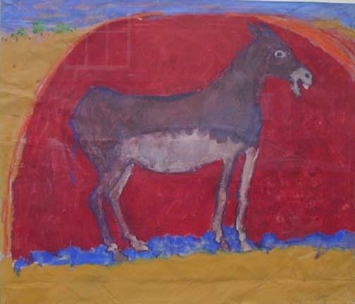 Ben Hartley Serenade, Gouache on paper 53 x 62 cm