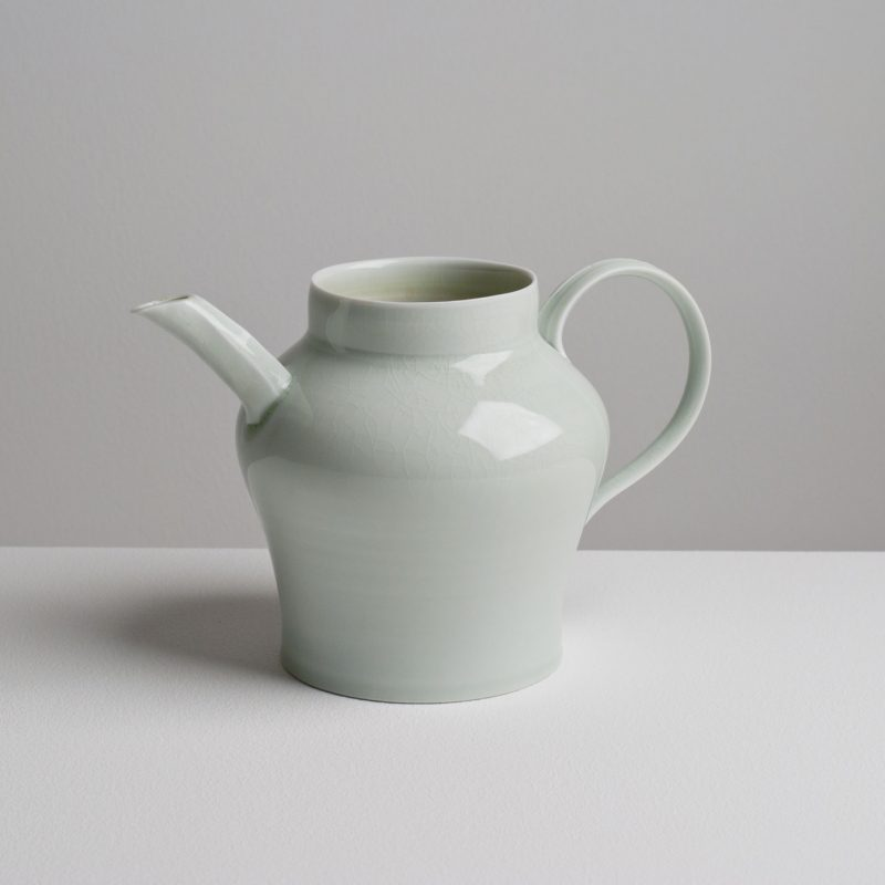 Olen Hsu Ewer in Celadon Glaze Porcelain 22 x13 x 14 cm.
