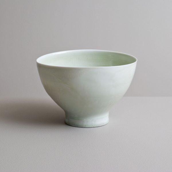 Olen Hsu Tall Bowl in Running Celadon Glazes Porcelain 11 x 18 cm.