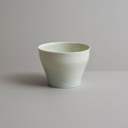 Olen Hsu Translucent Tea Bowl with Celadon Glaze Porccelain 9 x 12 cm.