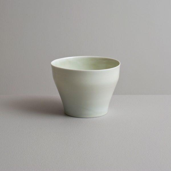 Olen Hsu Translucent Tea Bowl with Celadon Glaze Porccelain 9 x 12 cm.