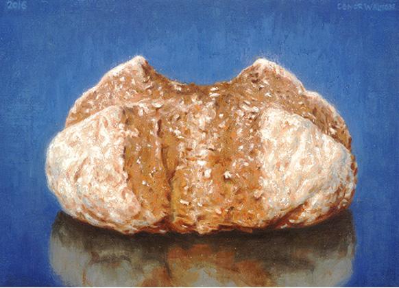 Conor Walton Bread, Oil on linen 25 x 35 cm