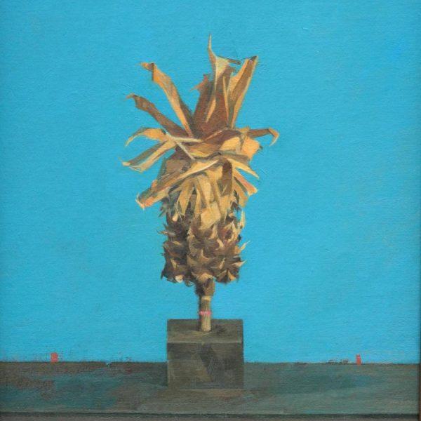Jason Walker Pineapple, Oil on board 28 x 23 cm