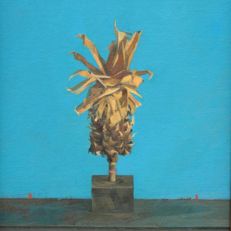 Jason Walker Pineapple, Oil on board 28 x 23 cm