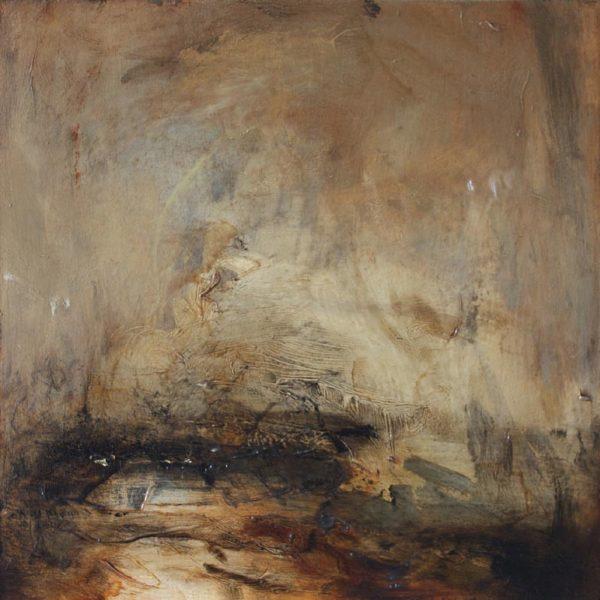 Mark Johnston Requiem, Oil on panel 25 x 25 cm