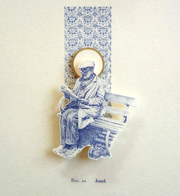 Greg Gilbert Bench, Biro relief on card