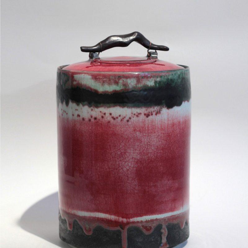 Eddie Curtis 70. Lidded Container, Porcelain h31 x 21 cm