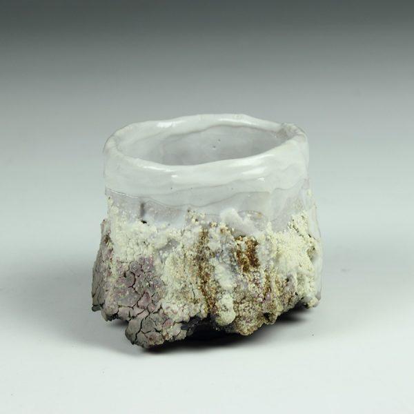 Eddie Curtis ECU15. Sake cup, Stoneware with Shino glaze h6 x 7 cm
