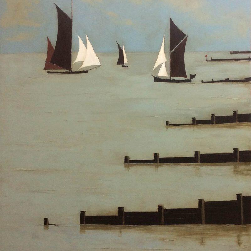 Jo Oakley We Three, Oil on Canvas 120 x 100 cm