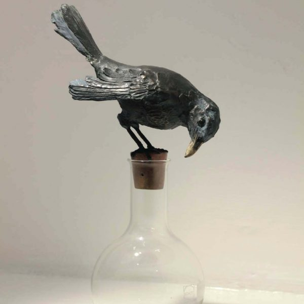 Patrick Haines Hermetic Bird, Bronze and found objects Ed. of 10 h30 x 18 x 11cm