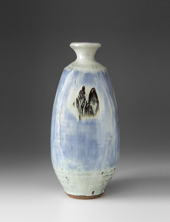 William Plumptre Padded Vase, Stoneware with Nuka glaze 36 x 15 x 15cm