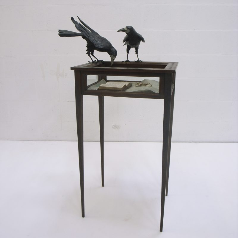 Patrick Haines Soul Object, Bronze glass wood and found objects h120 x 76 x 64 cm