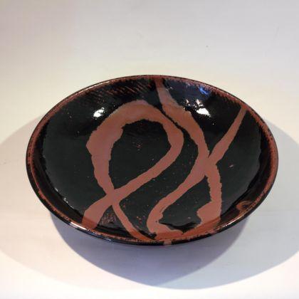 William Plumptre 1. Thrown Plate, Stoneware 36x8cm