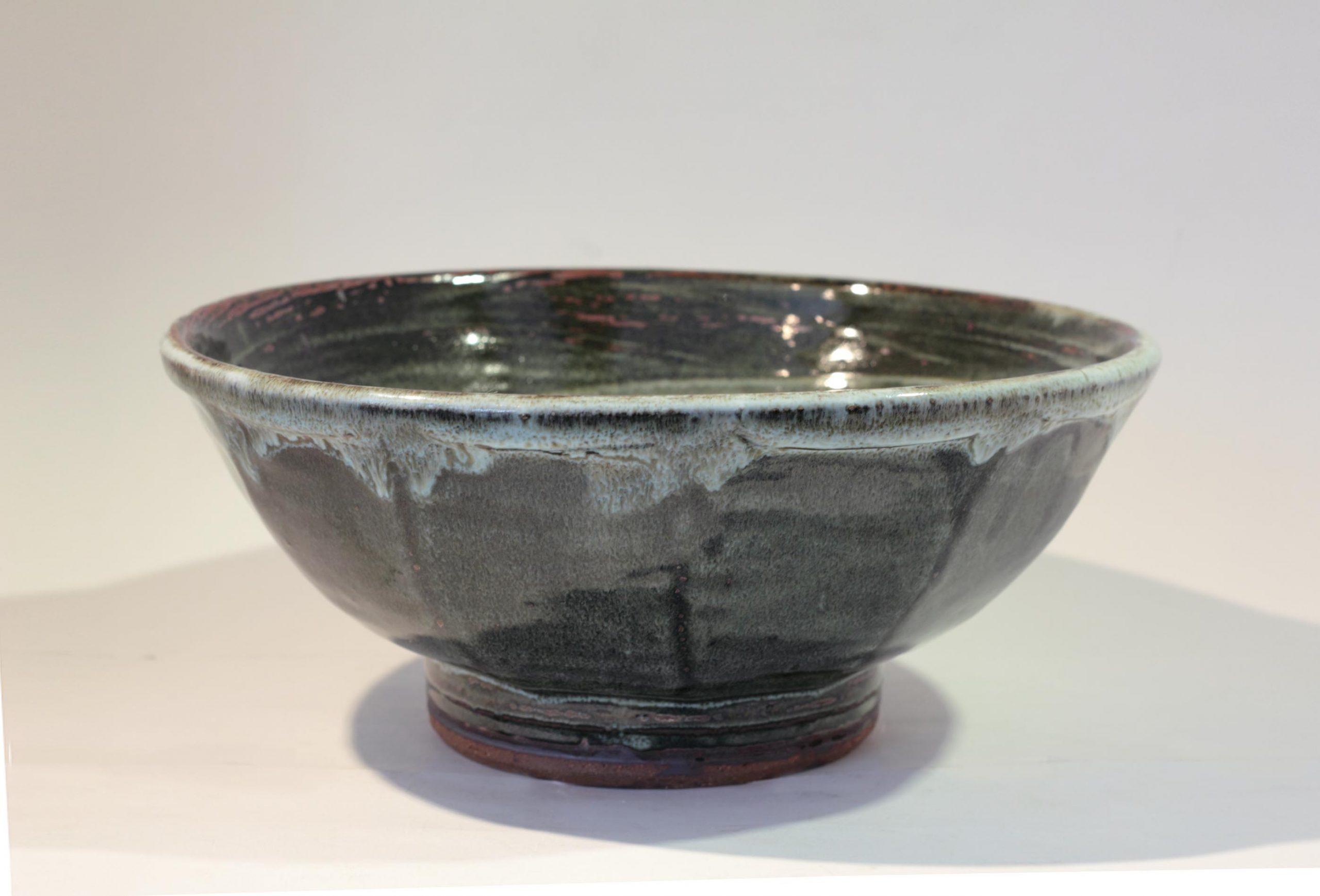 William Plumptre 20. Cut Sided Bowl, Stoneware 13x26cm