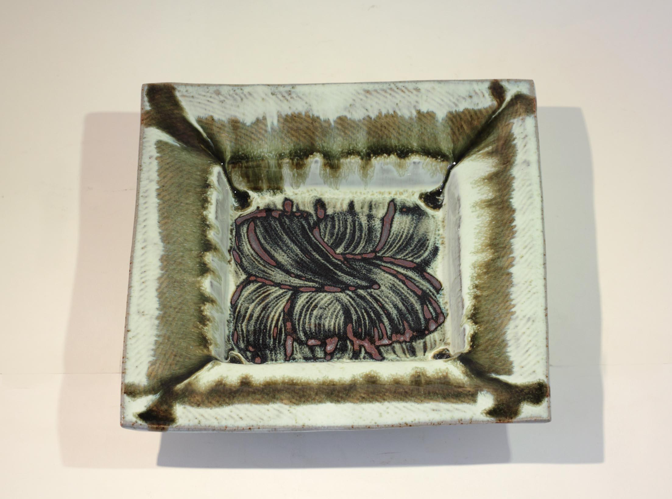 William Plumptre 4. Medium Square Plate, Stoneware 26x26x5cm