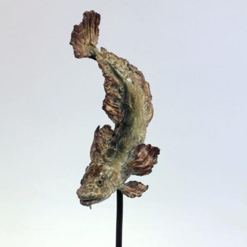 Pieter Vanden Daele Burbot, Bronze ed of 8 h38x11x9cm