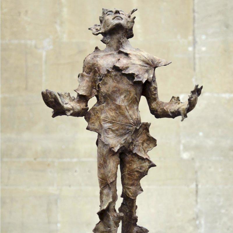 Anna Gillespie Man of Leaves, Bronze ed of 9 h51 x 30 x 22cm