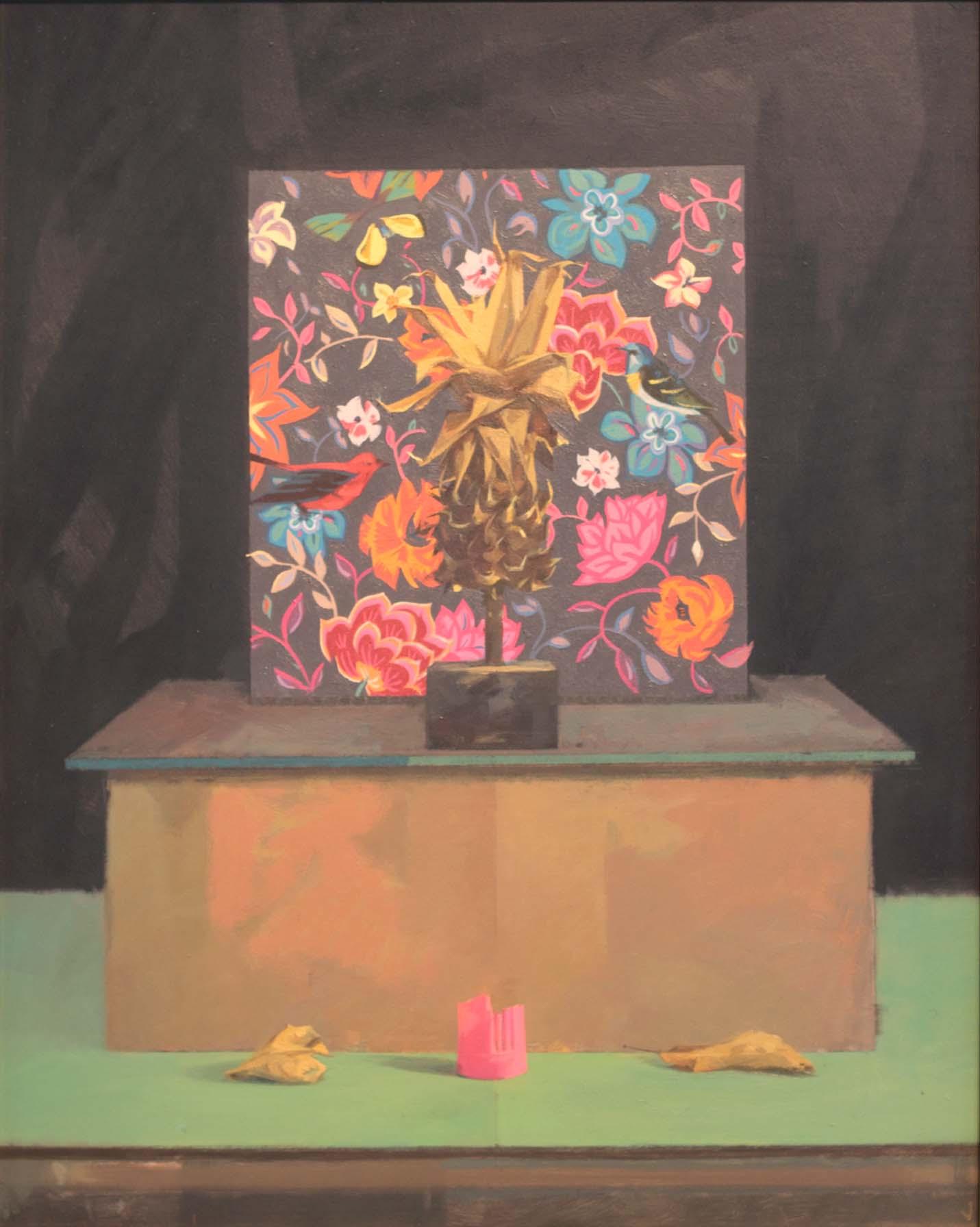 Jason Walker Lost in Paradise, Oil on Board 49 x 39cm