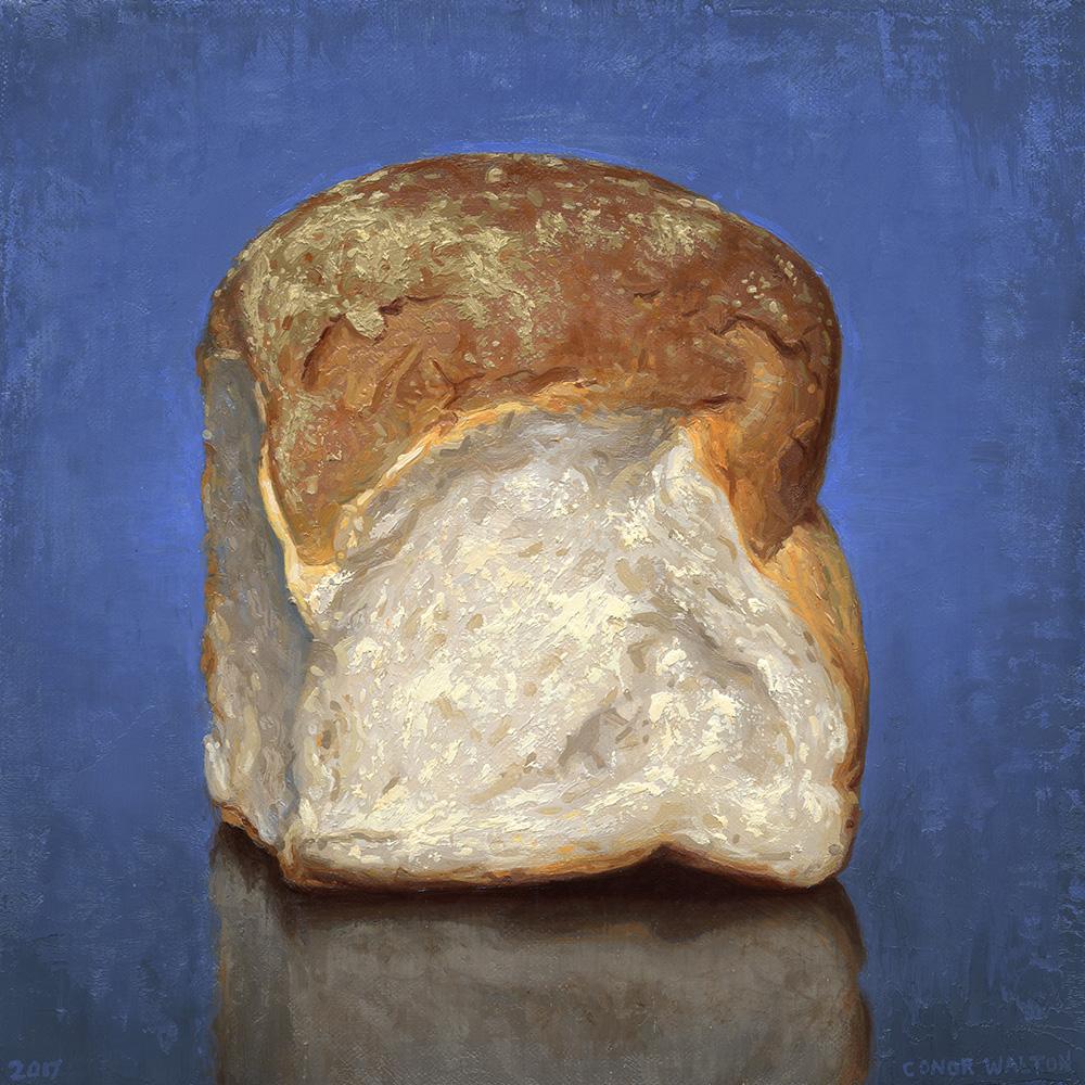 Conor Walton Batch Loaf Oil on Canvas 30 x 30 cm.