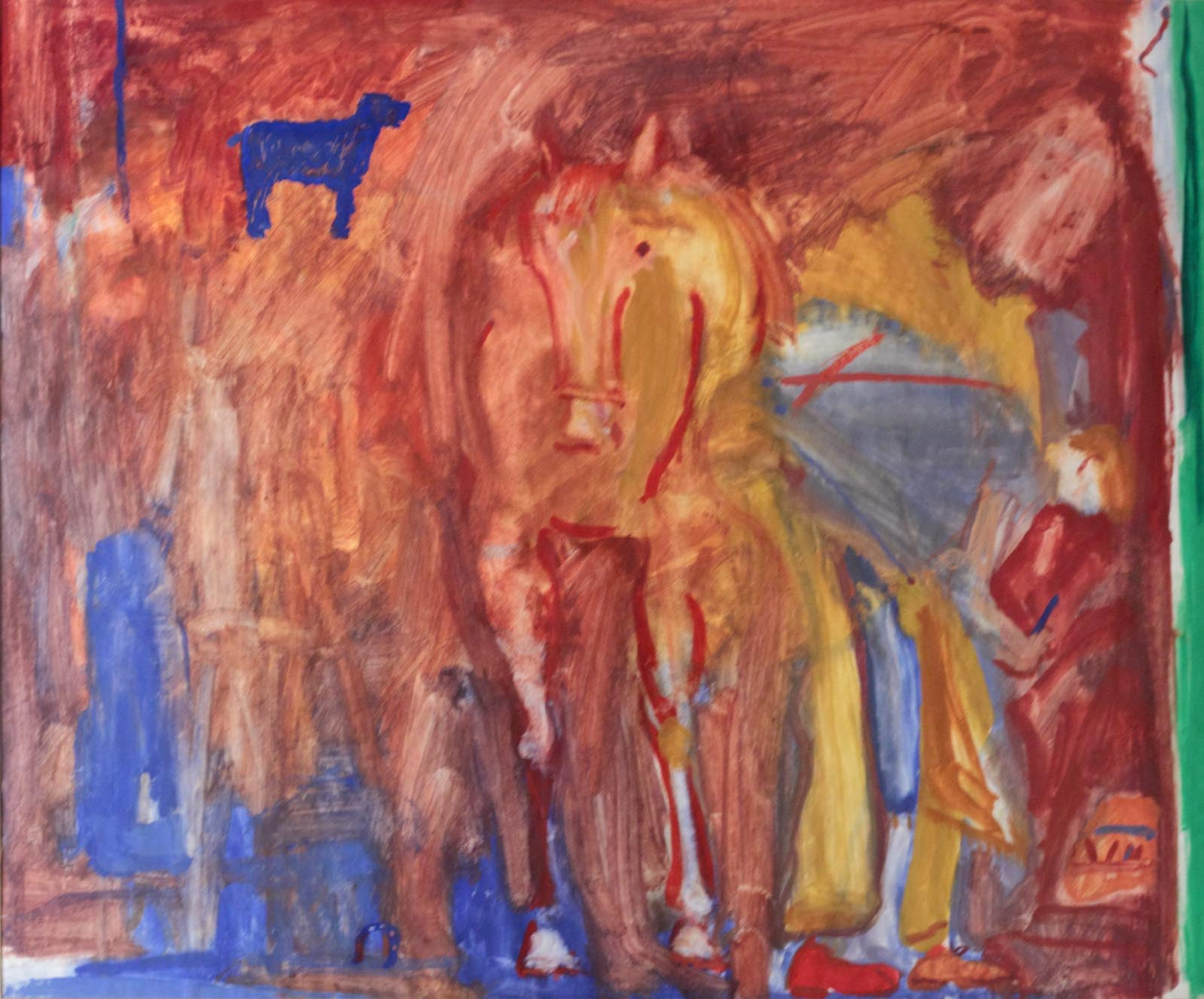 Ben Hartley Blacksmith Gesso on Paper 56 x 69 cm.