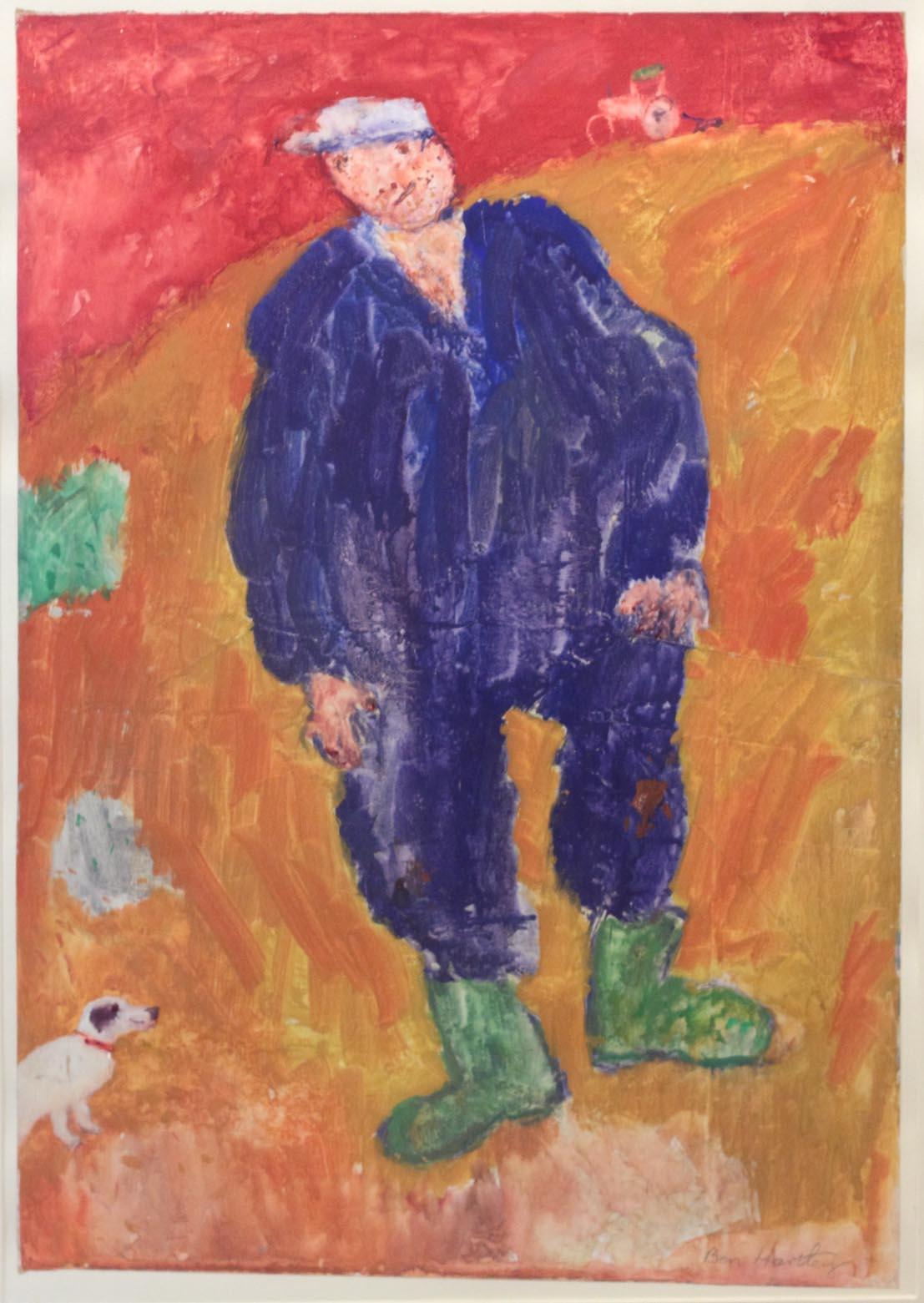 Ben Hartley Bumpkin Gesso on Paper 81 x 43 cm.