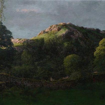 Martin Greenland Nameless Hill After Midsummer, Oil on canvas