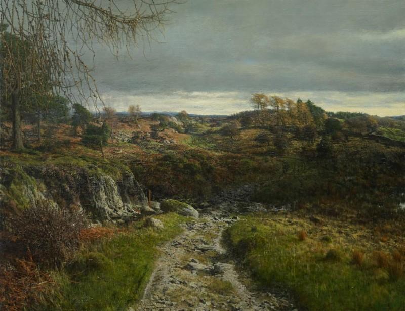 Martin Greenland February Conversation, Oil on canvas 91.5 x 71.5cm